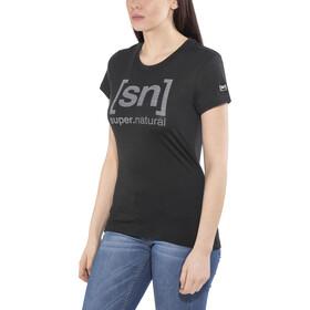 super.natural Essential I.D. T-paita Naiset, jet black/print